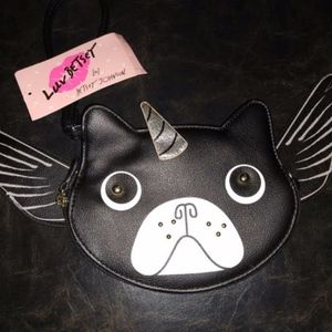 BETSEY JOHNSON PUG UNICORN W/WINGS COIN PURSE
